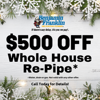 $500 Off Whole House Re-pipe