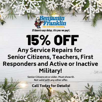 15% off any service repairs for senior citizens, first responders, teachers or active or inactive military