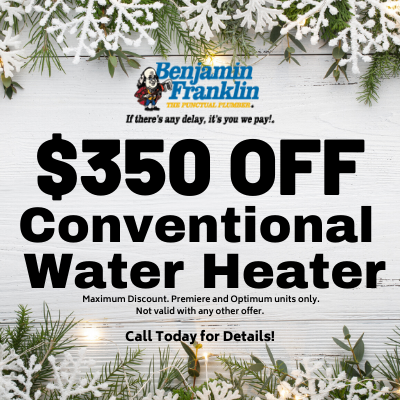 $350 Off conventional water heater