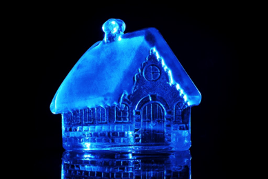 a picture of a frozen gingerbread house