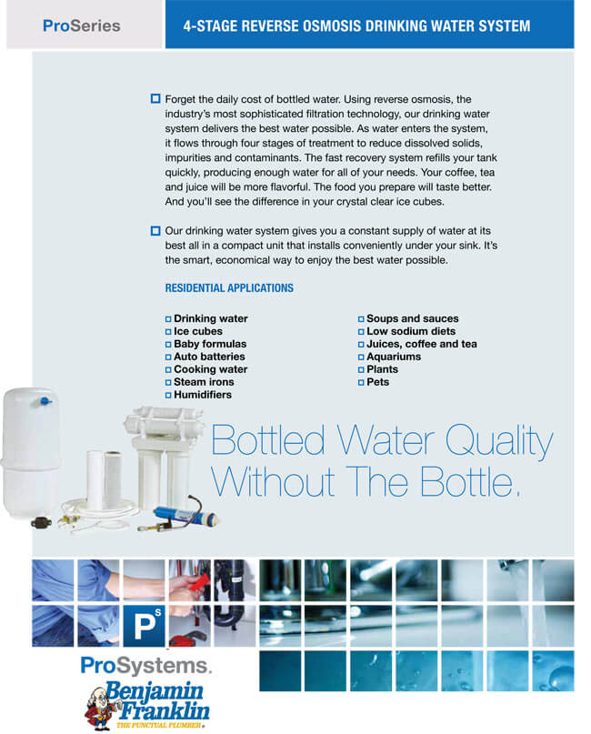 4-State Reverse Osmosis Drinking Water System