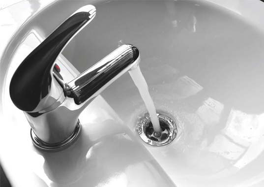 Sink Running water